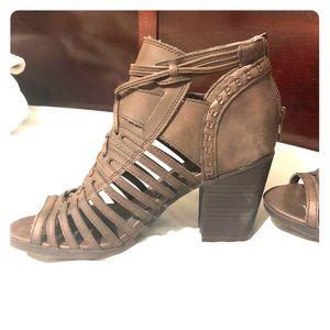 """Sugar"" Open Toed Heel Boots"